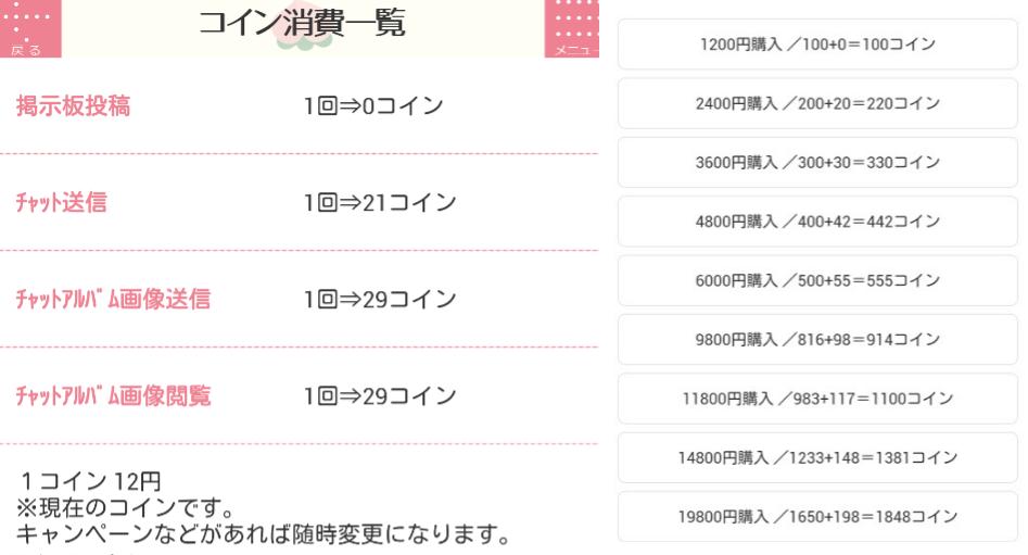 悪質出会い系アプリ「ひまっぷ」料金表