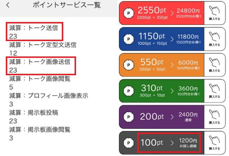 SNSチャットアプリのタップラブ料金