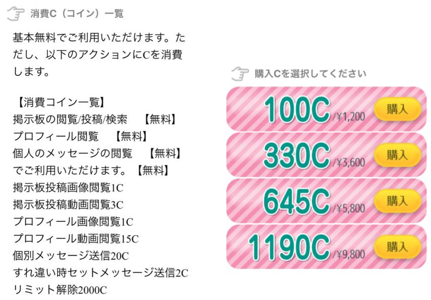 【HMU】ヒットミーアップ料金