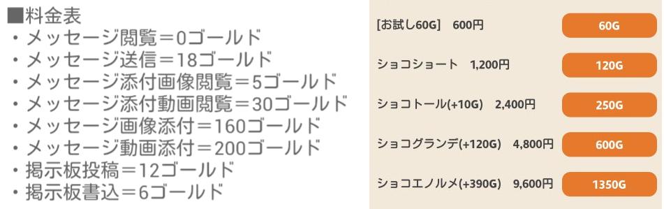 出合い探しの決定版~ショコラティエ♪料金