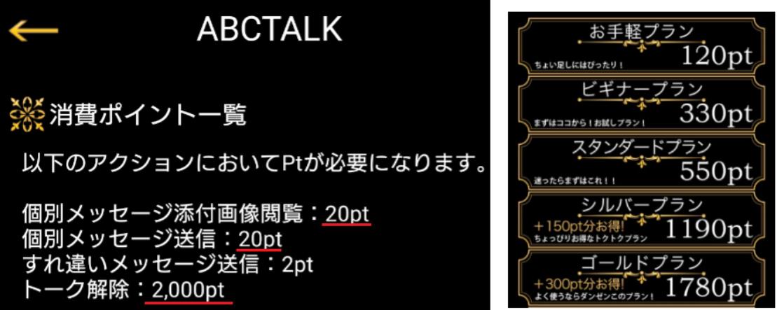 悪質出会い系アプリ「ABCTALK」料金