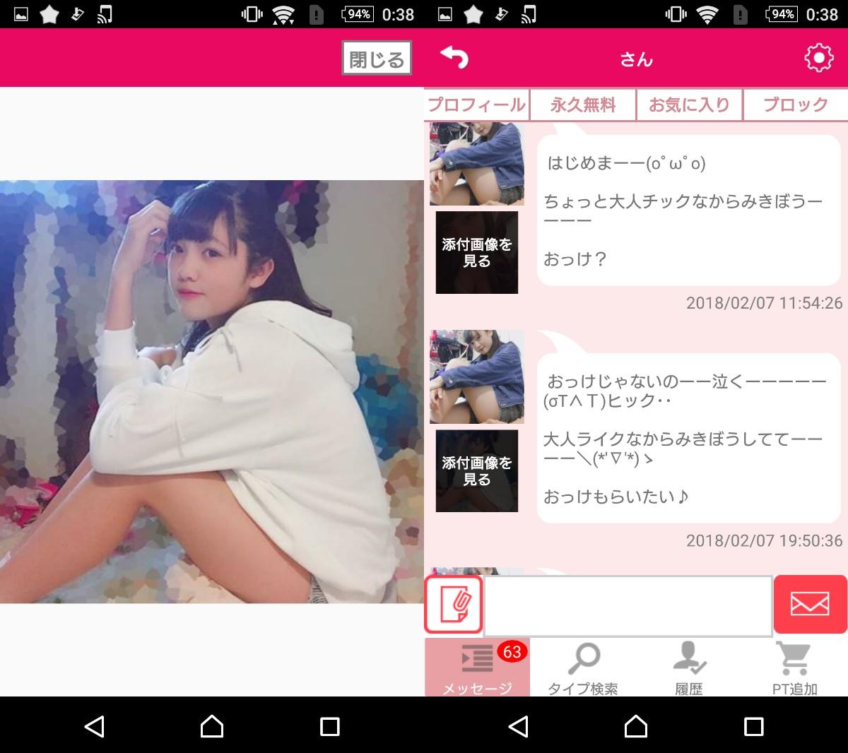 悪質サクラ詐欺!Love Search婚活マッチングアプリのサクラ画像