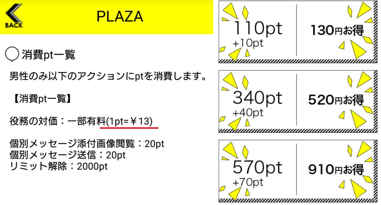 悪徳出会い系アプリ「PLAZA」料金