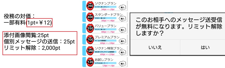 悪徳出会い系アプリ「ソクナン」料金