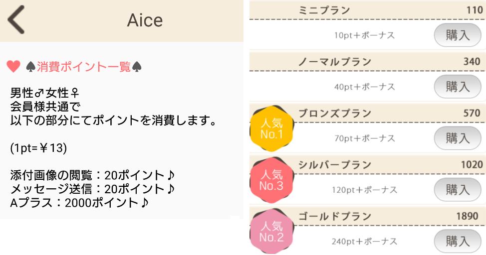 サクラ詐欺出会い系アプリ「Aice」料金
