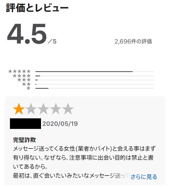 出会い系アプリアッチ系の口コミ評判