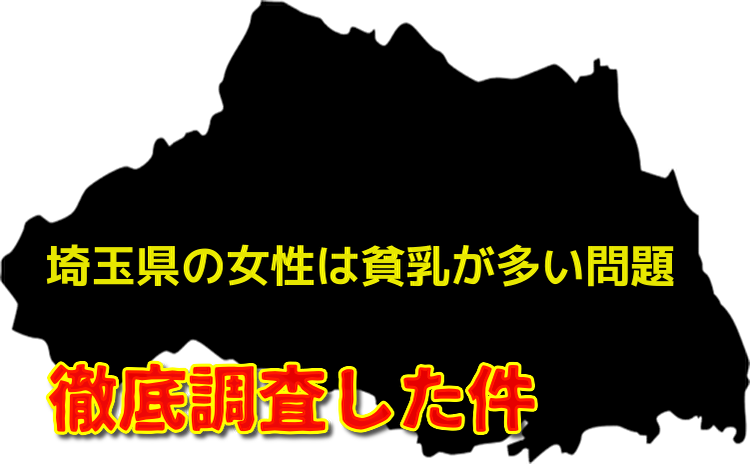 埼玉県の貧乳問題